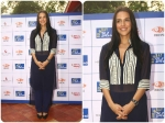 Neha Dhupia Looks Marvellous In Manish Malhotra See Through Tunic Dress