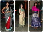 Ash Sonakshi Genelia Dress Up For Diwali Bash