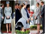 Pregnant Kate Middleton Dress Flies Up Again
