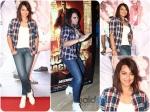 Sonakshi Sinha Tomboyish Look For Promotions
