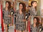 Bipasha Basu Flamboyant Silver Shirt Dress
