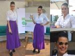 Neha Dhupia Skirty Look In Payal Khandwala