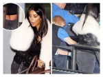 Kim Kardashian Wardrobe Malfunction At Airport