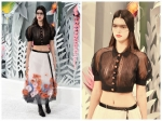 Kendall Jenner Steals The Chanel Runway Sans Bra
