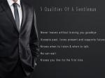 Qualities Of A Gentleman