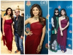 Egyptian Queen Shilpa Shetty In Ramona Narang Saree Gown