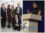 Priyanka Chopra In Bold Black Dress At Boston Conference