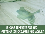 Fourteen Home Remedies For Bed Wetting In Children And Adults