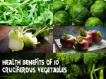 Health Benefits Of Ten Cruciferous Vegetables