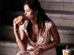 Padma Lakshmi Finds Carl's Jr Cheeseburger Lip Smacking