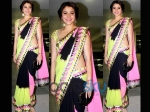 Anushka Sharma In Abu Sandeep Saree For Diwali