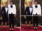 Pharrell William's In Bermudas At 2014 Oscars