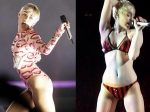 Miley Performs On Stage With Just Her Undies!