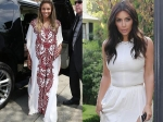 Kim Kardashian Stuns In White At Ciara's Baby Shower