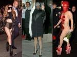 Gaga's See Through Jumpsuits & Latest Headgear
