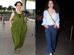 Kangana Ranaut Brings A Refreshing Change To Her Airport Outfits And We Love It