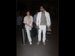 Alia Bhatt And Ranbir Kapoor Made A Colour-coordinated Entry At The Airport