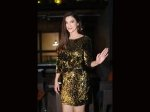 Gauahar Khan Looks Class Apart In Her Glamourous Golden Dress