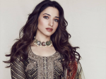 Tamannaah Bhatia Gleams In Brown And Gold Make-up At The Teaser Launch Of Sye Raa Narasimha Reddy