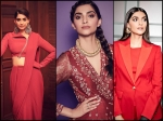 Sonam Kapoor Ahuja's Best Red-hued Outfits From The Zoya Factor Promotions