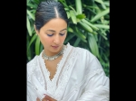 Hina Khan Gives Us Festive Vibes With A White Ethnic Suit But Her Eye Makeup Disappoints Us