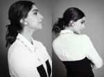 With This Looped Low Bun Sonam Kapoor Give Us An Exquisite Hairstyle To Wear To Office
