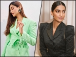 Fashionista Sonam Kapoor Ahuja Gives Boss Lady Goals With Black And Green Pantsuits