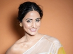 Hina Khan Looks Insanely Beautiful In Her Ivory Leaf-Patterns Sari