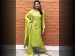 Kajal Aggarwal Wore A Green Suit For Maha Shivratri Celebrations And It Had All Our Attention