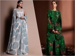 Traditional Wear Edit: The Green Outfit Or Printed Blue Drape Attire, Which Outfit You Liked More?