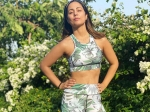 Hina Khan Exudes Comfy Vibes In Green-Blue Printed Separates And It's Perfect For Workout Sessions
