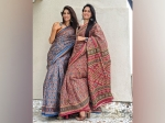Aahana Kumra And Her Sister Shivani Kumra Flaunt Gorgeous Blue And Red Patola Sarees