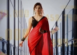 Urvashi Rautela Turns 'Black Rose' In A Red And Black Saree For Her Upcoming Film's  Poster Look