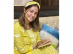 Hina Khan Gives Us A Perfect Work-From-Home Outfit Goal With Her Yellow Pyjama Set And Hairband