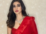 Mouni Roy Raises Temperature In A Beautiful Red Ruffle Saree; Costs Just INR 30,000!