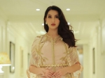 Nora Fatehi Is A Vision To Behold In Her Classy And Regal Pastel Ensemble And Golden Kaftan Jacket