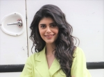 Mehendi Wale Haath: Sanjana Sanghi Sets Fashion Goals For Chic Office Wear In Her Lime-Green Semi-Formal Suit