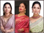 Pink, Red, Or Green, Which Saree Of Tamannaah Bhatia Did You Like The Most?