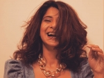 Jennifer Winget Raises The Oomph Factor In A Grey Dress But Her Chunky Golden Neck Piece Steals The Spotlight