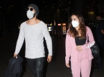 Airport Fashion: Varun Dhawan And Natasha Dalal Make Heads Turn In Their Chic Outfits And Twin In White Masks