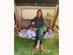 Eid ul-Fitr: Sania Mirza Flaunts A Dark Green Suit, Gives Us A Twinning Moment With Her Son; Pictures Inside!