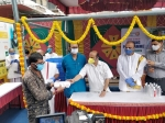 Akshaya Patra Starts COVID-19 Relief Feeding Centre In Bengaluru, Home Minister of Karnataka Launches the Prog