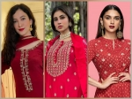 Eid ul-Fitr 2021: Top 3 Festive Red Kurta Sets For Eid Ft. Gauahar Khan, Mouni Roy, And Aditi Rao Hydari