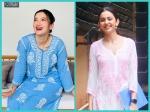 Gauahar Khan And Rakul Preet Singh Wow Us With Their Pastel-Hued Chikankari Kurta Sets