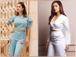 Nushrat Bharucha And Sunny Leone's Crop Top And Pants Combo Make For The Best Outfits For Job Interviews