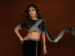 Shilpa Shetty Kundra Stuns In Her Saree-Inspired Black Outfit With Interesting Palla And Silver Jewellery