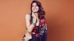 Jacqueline Fernandez poses in floral print lehenga for The Kapil Sharma Show