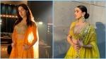Sara Ali Khan's Poppy Mango Outfit And Sanya Malhotra's Moss-Green Lehenga: The Outfits For Wedding Season