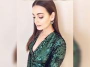Dia Mirza Stuns In A Green Dress