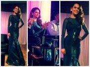 Esha Gupta In Dramatic Amit Aggarwal Gown